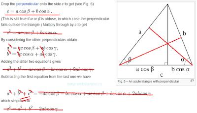 Анализ доказательства теоремы косинусов. Математика для блондинок.