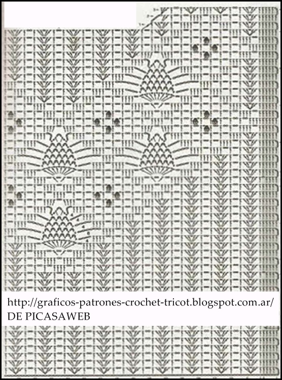 Patrones De Cortinas. Simple Cortina Tejida Al Crochet Con Diagrama ...