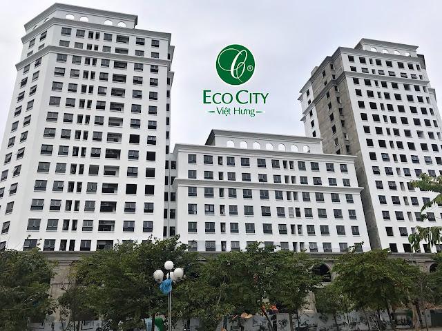 Hình ảnh thực tế mặt ngoài chung cư Eco City