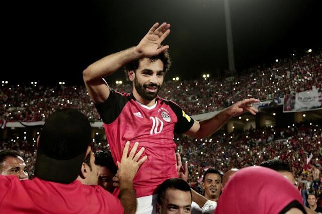 صور محمد صلاح مع المنتخب