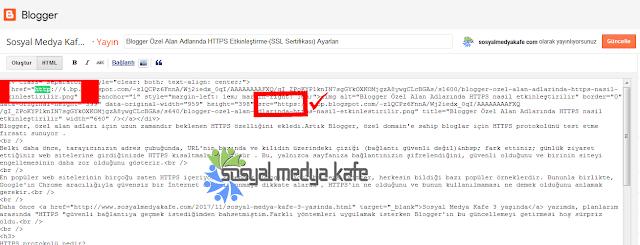 Blogger HTTPS Yazı İçi Resim URL Güncelleme