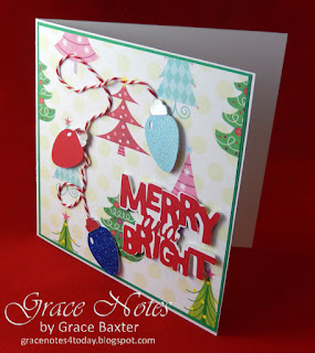 Merry and Bright, Christmas card. Designed by Grace Baxter