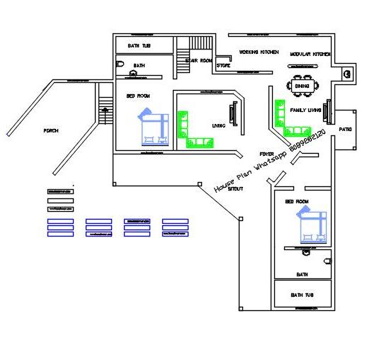 Free l shaped house plan home design ideas penting ayo for L shaped house plans modern