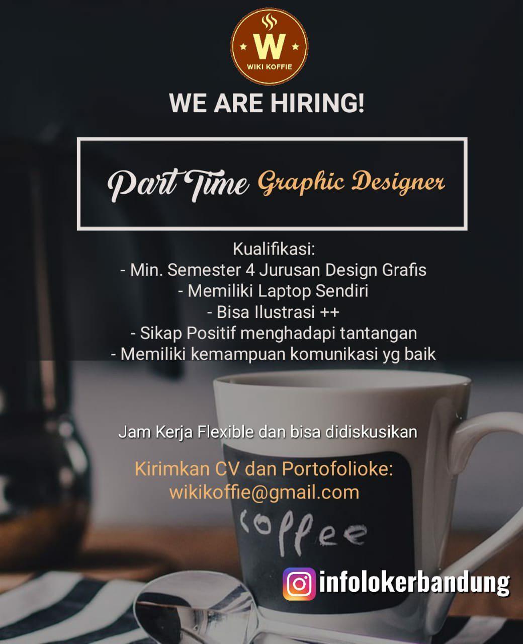 Lowongan kerja Part Time Graphic Designer Wiki Koffie Bandung April 2019