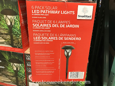 Costco 1600095 - Light your pathway with Alpan SmartYard Solar LED Pathway Lights