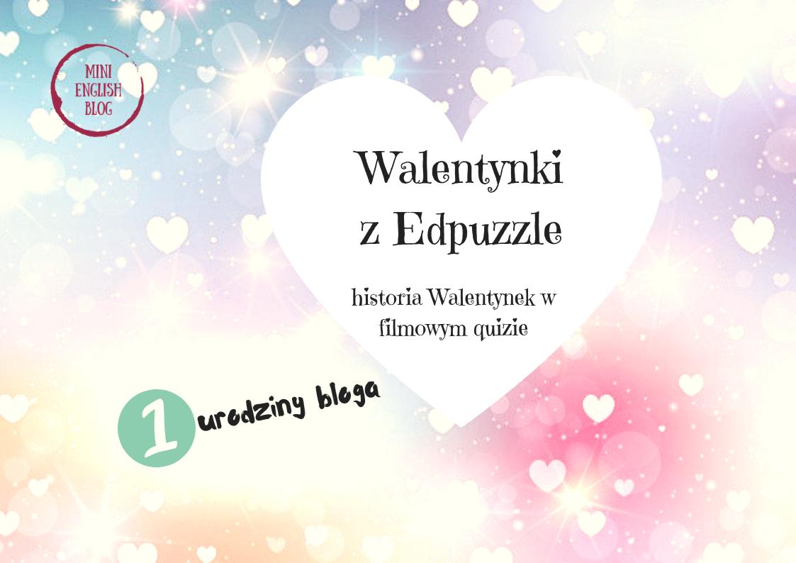 1 urodziny bloga. Walentynki  last minute