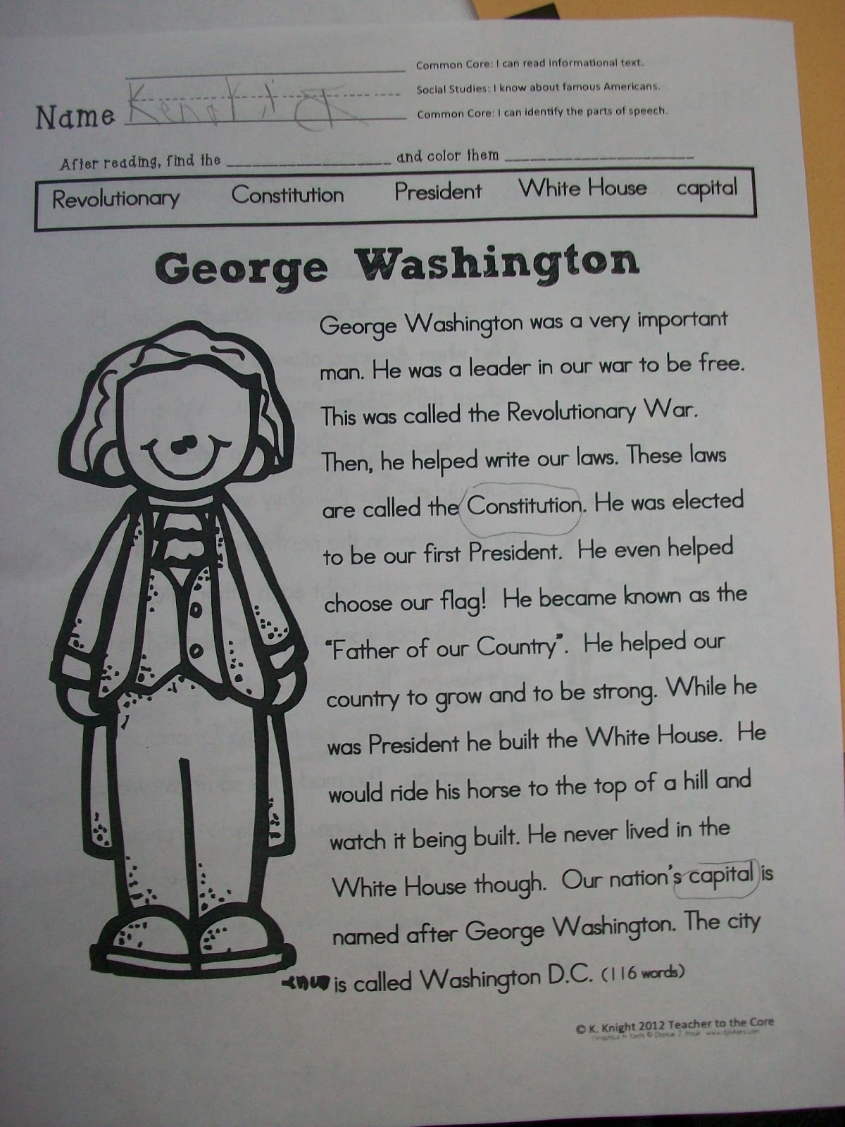 The Very Busy First Graders President S Day A Giveaway