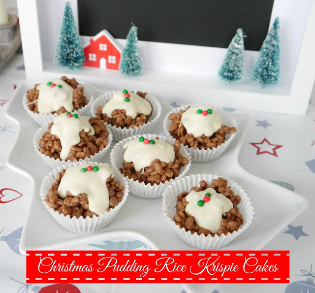 Christmas Pudding Krispie Cakes