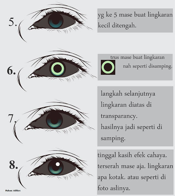 Cara Membuat Mata pada Foto Vector