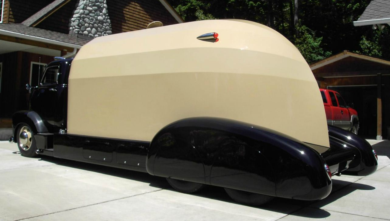 Just A Car Guy Awesome Coe Streamliner Rv Built On A