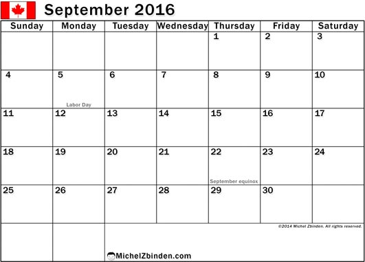 September-2016-Printable-Calendar-Canada-Holidays