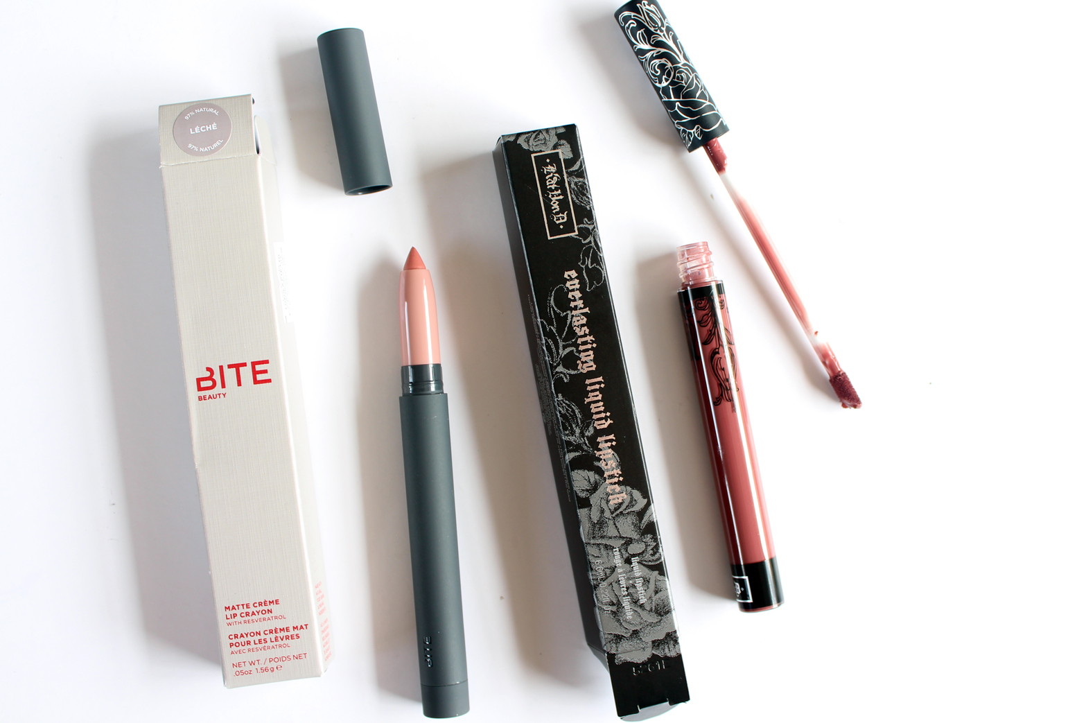 SEPHORA NEW ZEALAND | Haul - Reviews + Swatches - Bite Beauty Matte Creme Lip Crayon in Leche + Kat Von D Everlasting Liquid Lipstick in Lolita - CassandraMyee