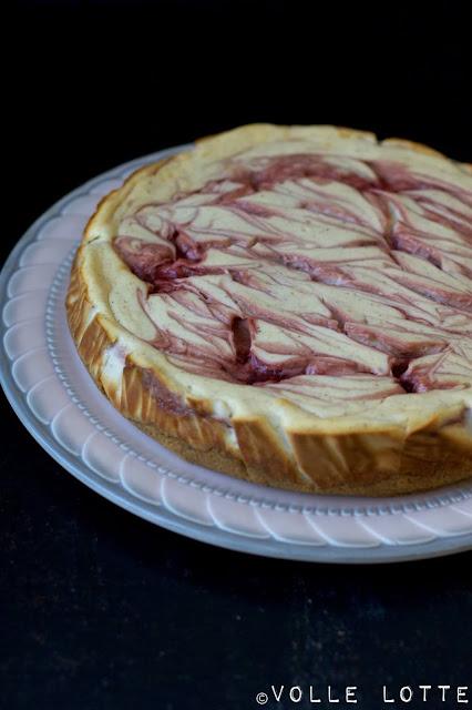 Erdbeeren, Käsekuchen, Backen, Erdbeerzeit, einfach, Cheesecake, fein, lecker