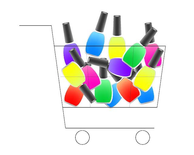 zakupy, lakiery, koszyk, nowości
