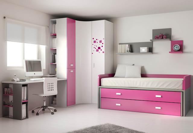 Habitaciones juveniles for Dormitorios tres camas