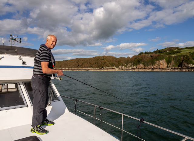 Photo of Phil fishing near Little Ross Island