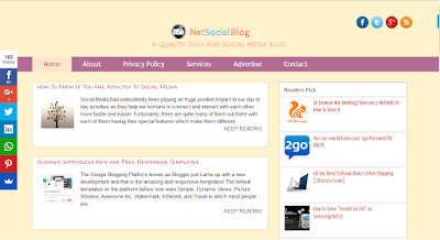 netsocialblog template