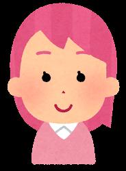 ピンクの髪の女の子のイラスト
