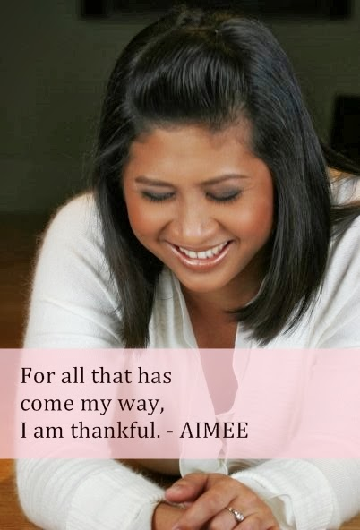 For all that has come my way, I am thankful by Aimee