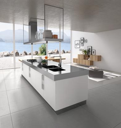 cuisine design blanche et bois. Black Bedroom Furniture Sets. Home Design Ideas