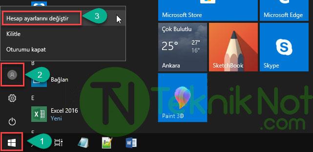 Windows 10 açılış şifresini tamamen kaldırma