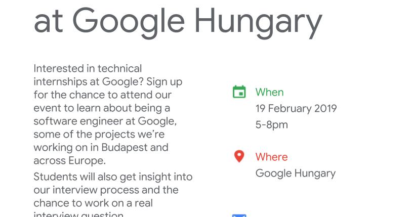 Google Developer Group Budapest: Interested in technical