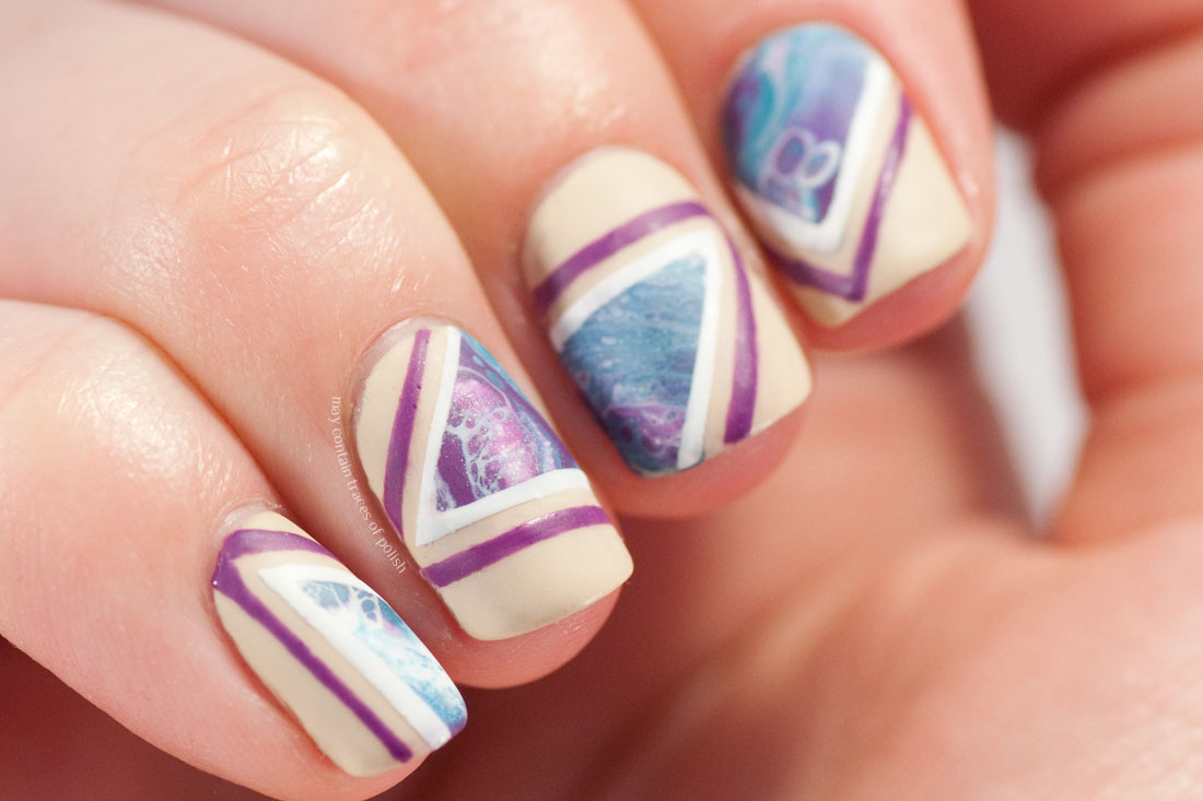 Water Foam Nail Art
