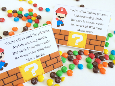 Super Mario Bag Topper free Printable