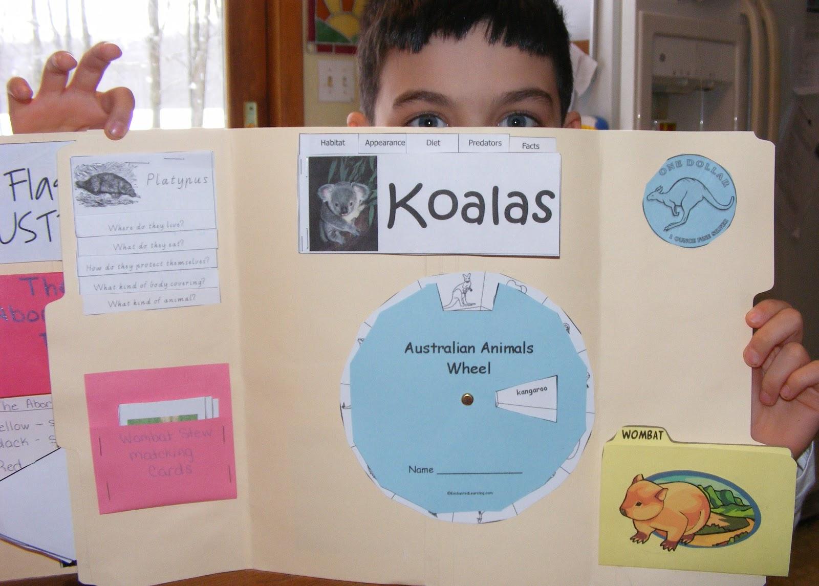 Ten Kids And A Dog Our Australian Lapbook