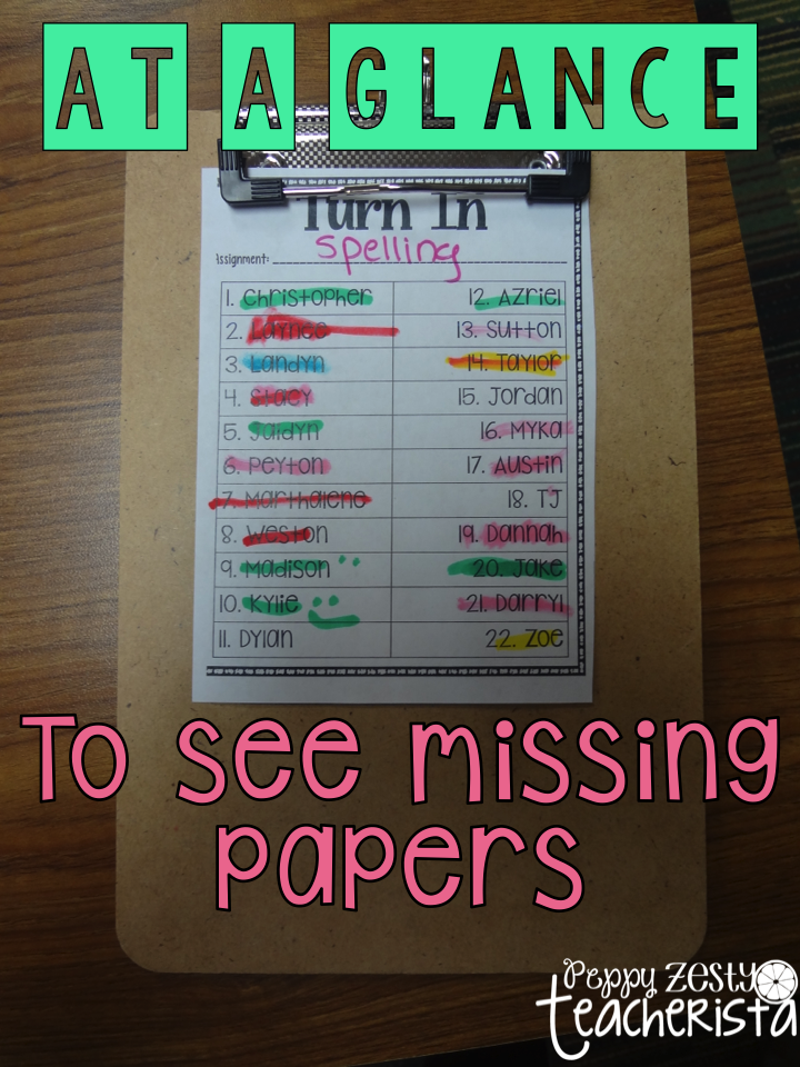 Elementary Teacher looking for a classroom management trick for turning in papers? Check to this classroom organization idea that will help with the headache! | back to school | classroom ideas