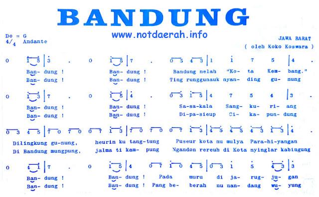 Not Angka Bandung Kota Kembang Sangkuriang