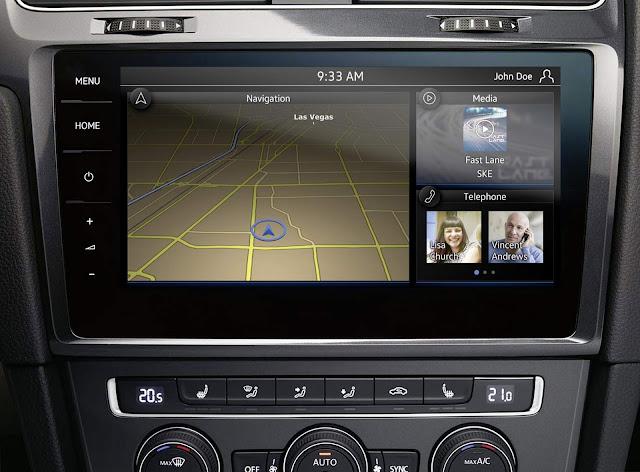 VW Golf 7 facelift - novo sistema de navegação