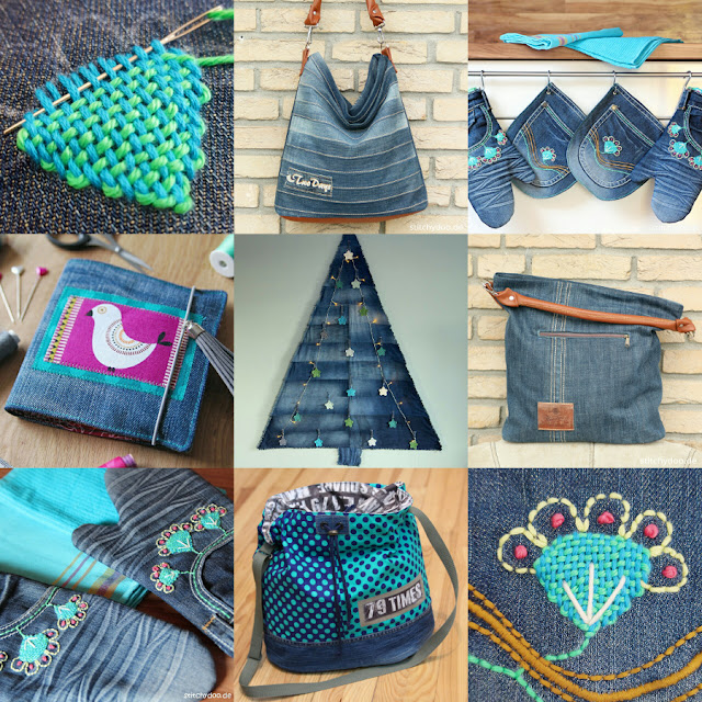 stitchydoo: Jahresrückblick | Mein kreatives Jahr 2016 - Jeans-Recycling