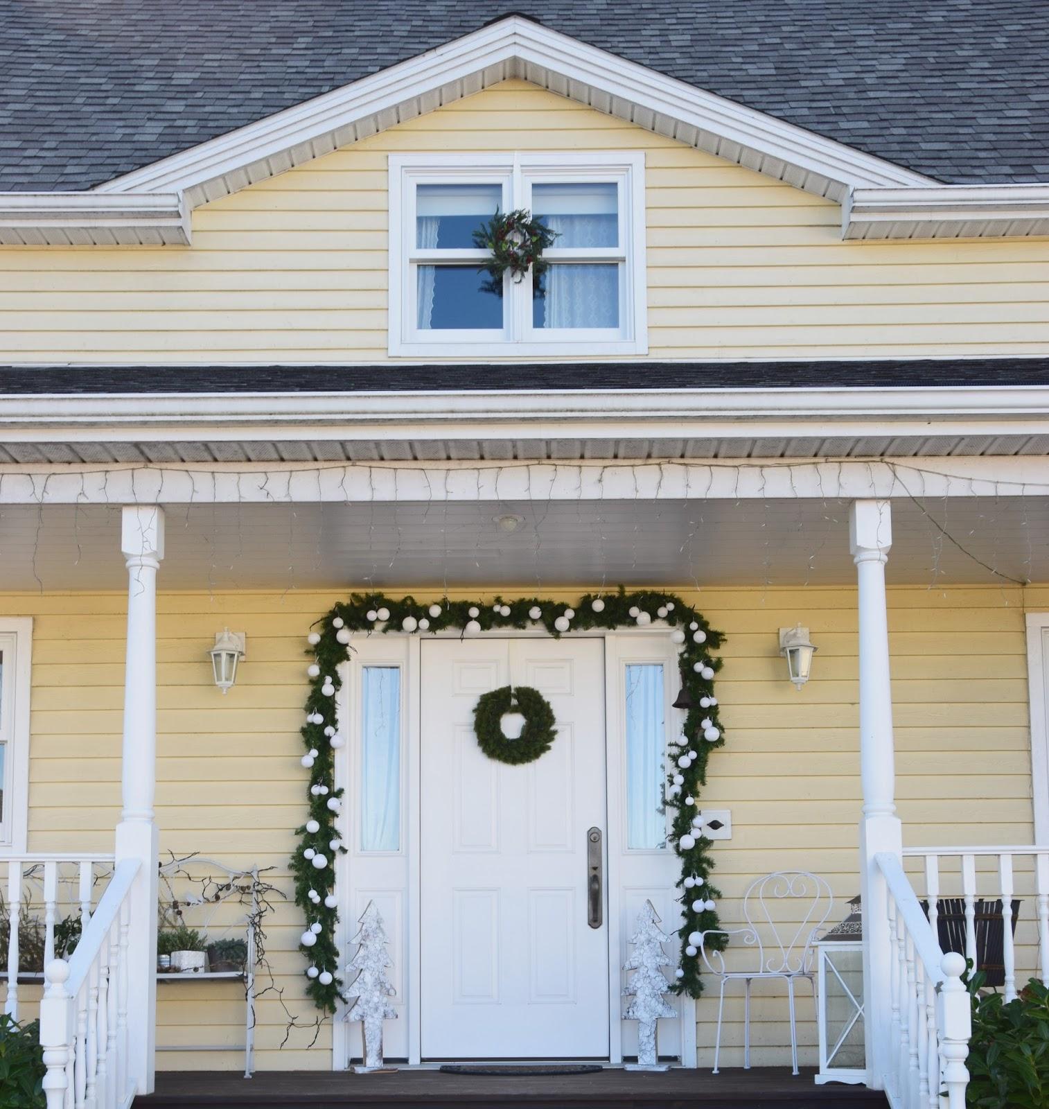 Weihnachtsdeko Haustür.Haustürdeko Weihnachten Auf Meiner Veranda Eclectic Hamilton