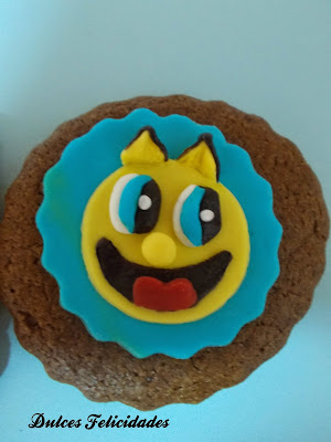 Galletas Pac-man fondant