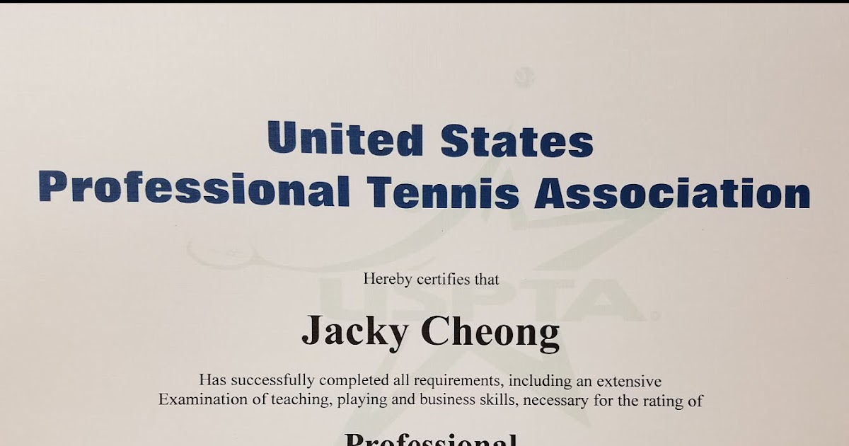 ATP Tennis Travels: USPTA Professional Exam - Tips and Course Review