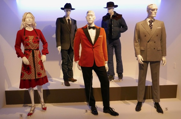 Kingsman Golden Circle movie costume exhibit