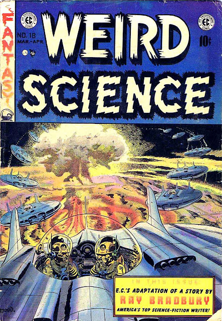 Weird Science v2 #18 ec science fiction comic book cover art by Wally Wood