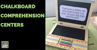 "Need a fun and easy comprehension center your students will love? Grab a few ""laptop"" chalkboards, create some reading passages, and you are all set!"