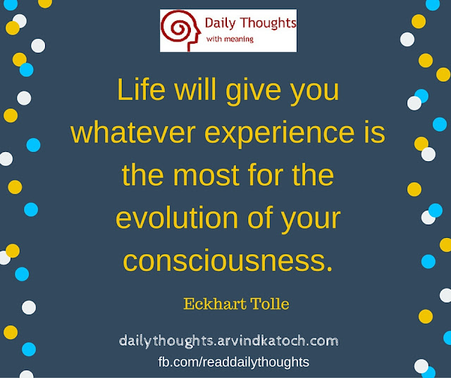 Daily Thought, Meaning, Life, experience, evolution, consciousness,