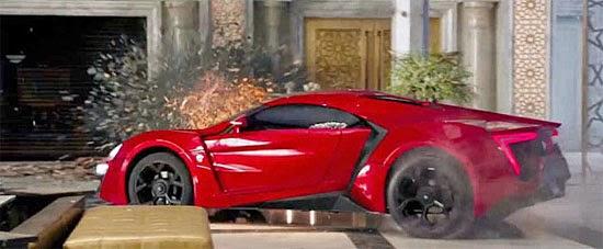 Carros destruídos no Filme Velozes e Furiosos 7
