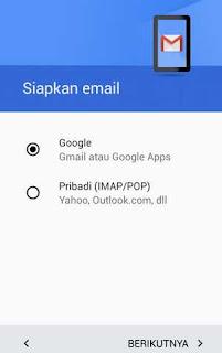 setelan akun gmail