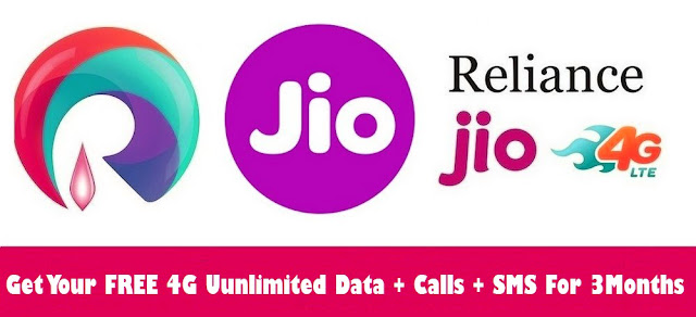 Get Your Free Relience Jio 4G Sim With Unlimited Data and Calles For 3 Months