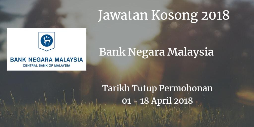 Jawatan Kosong BNM 01- 18 April 2018