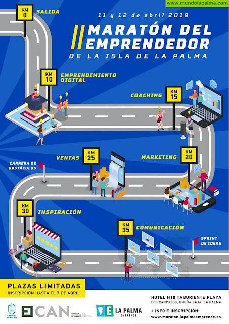El Área de Empleo del Cabildo organiza una nueva edición del 'Maratón del Emprendedor Isla de La Palma'