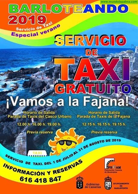 Barloteando 2019 - Servicio de Taxi GRATUITO a la Fajana de Barlovento