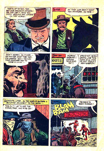 The Rifleman v1 #6 dell tv western comic book page art by Alex Toth
