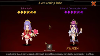 Rank Up Info Awaken Karin