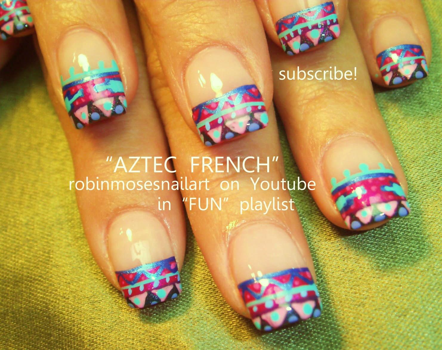"""Robin Moses Nail Art: """"aztec nails"""" """"tribal nail art ..."""