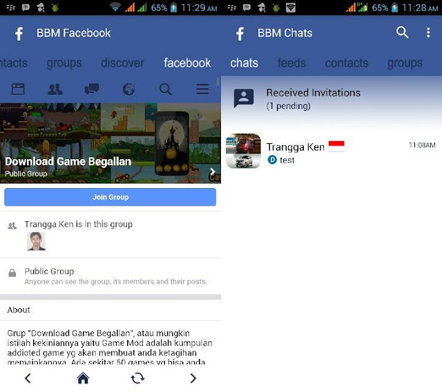 Download BBM mod FBUI Tema Facebook Apk